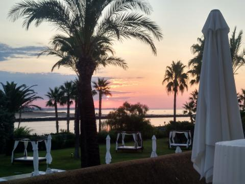 Sunset picture taken from the Melia Atlantico Isla Canela terrace